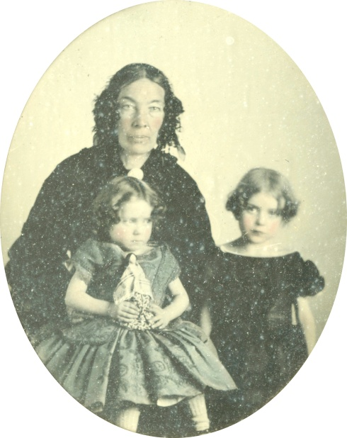 Margaret Duff with nieces Bella and Maggie Duff c1856