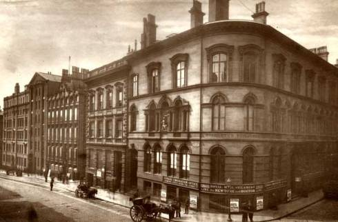 Water Street, Liverpool, showing the Cunard Lines office